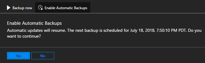 Azure Stack - enable scheduled backups