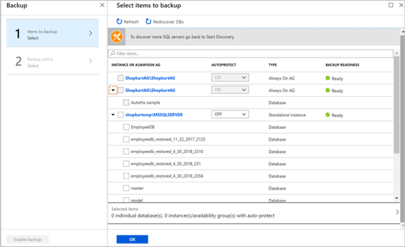 Displaying all SQL Server instances with standalone databases