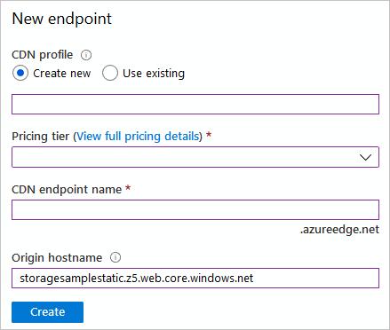 Integrate a static website with Azure CDN - Azure Storage | Microsoft Docs