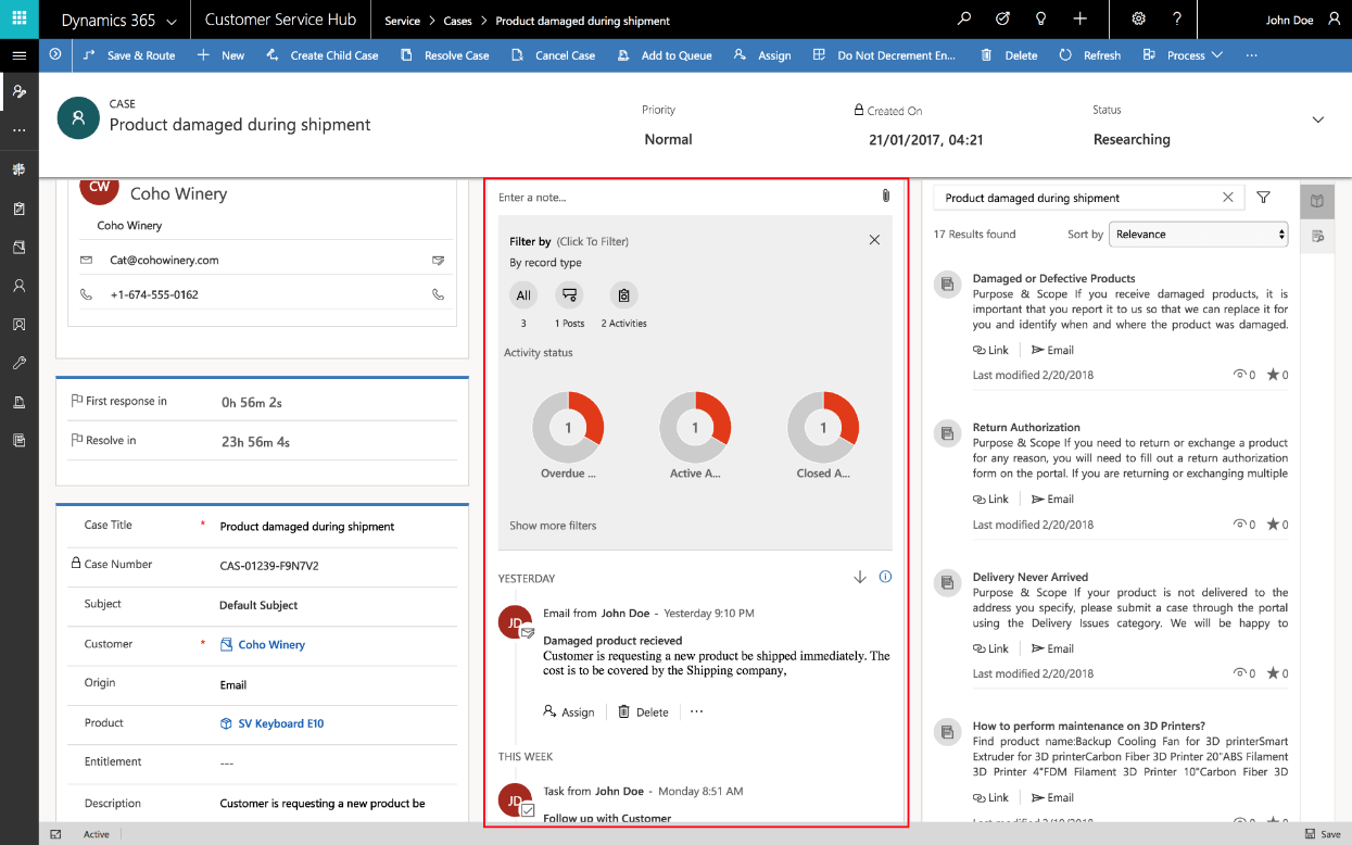 Timeline View Of Customer Interactions And Activities