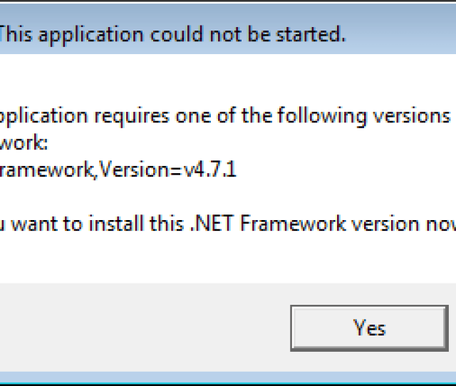 This Application Could Not Be Started