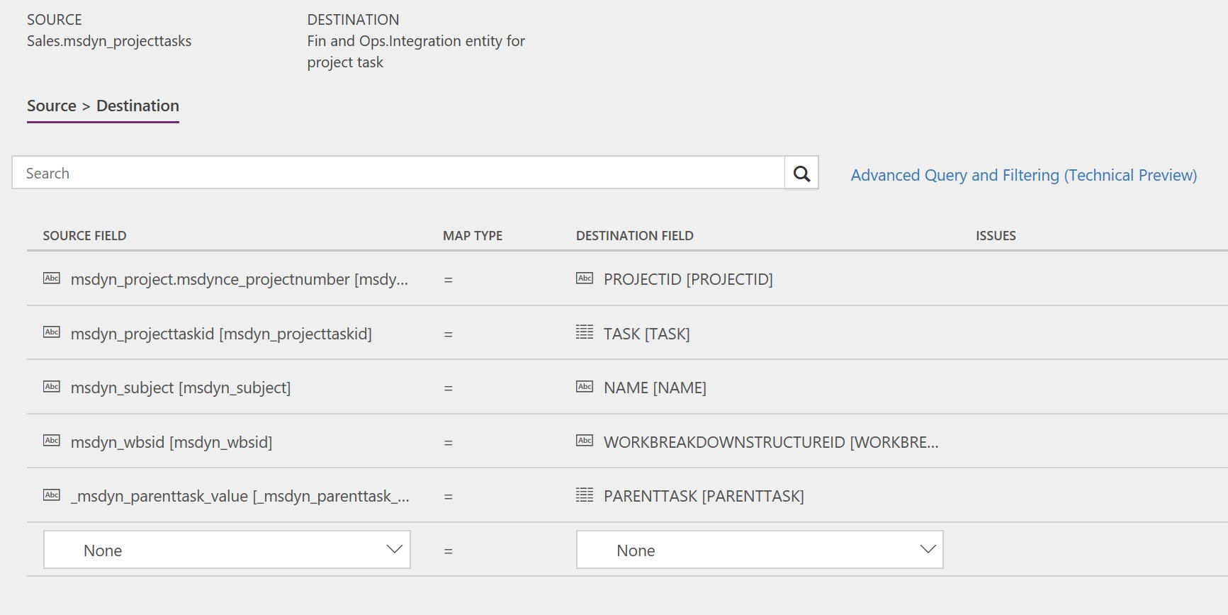 Synchronize project tasks directly from Project Service