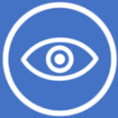 Image showing a stylized symbol of an eye for vision