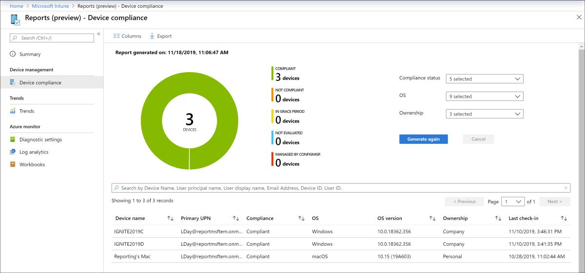 Microsoft Intune reports - Microsoft Intune | Microsoft Docs