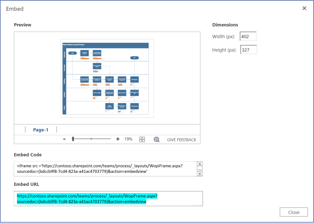 medium resolution of copy visio file url from embed dialog