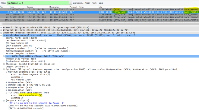 Bilderesultat for wireshark sack