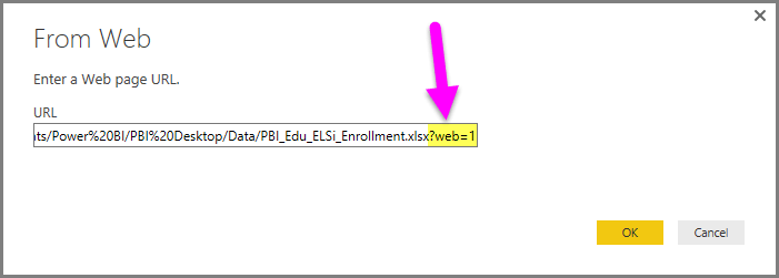 Use OneDrive for Business links in Power BI Desktop