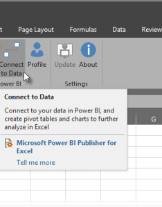 How to connect power bi data in excel also publisher for microsoft docs rh