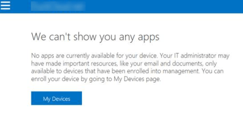 Screenshot of no device shown.