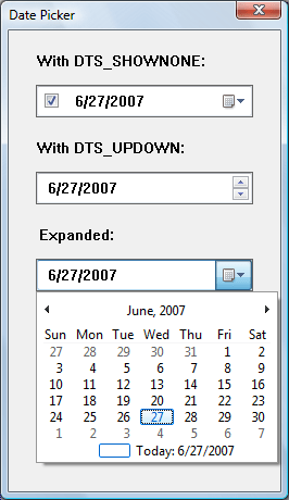Date And Time Dialog Box : dialog, About, Picker, Controls, Win32, Microsoft