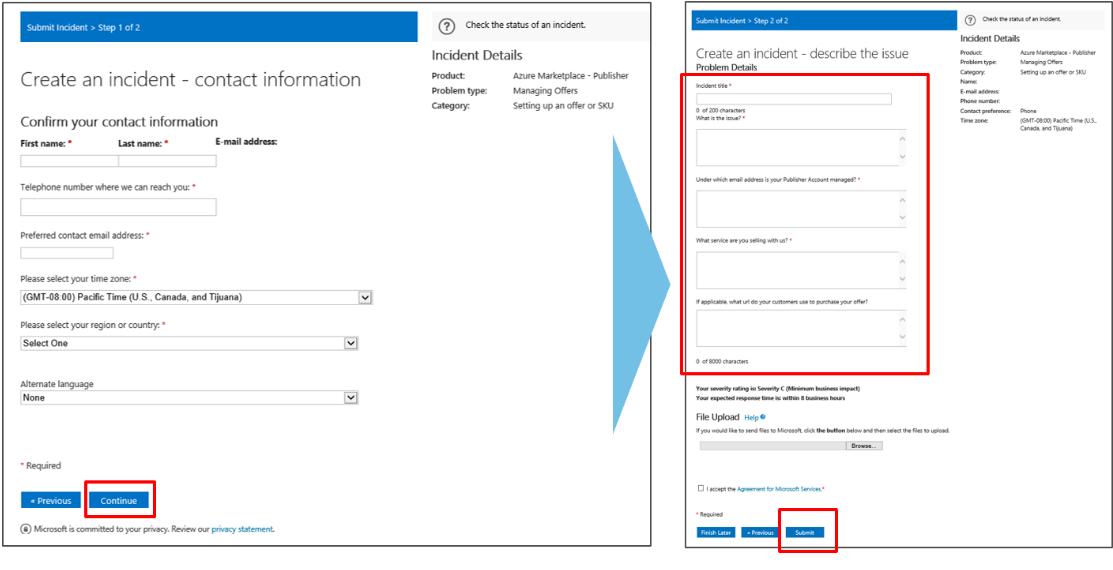 Support du portail Microsoft Cloud Partner | Microsoft Docs