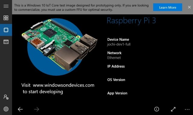 App default core per Windows 10 - Windows IoT | Microsoft Docs