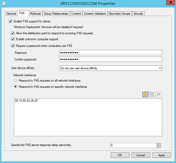 Config Mgr PXE