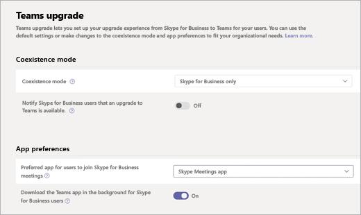 設定Skype 會議應用程式以搭配使用 Teams - Microsoft Teams | Microsoft Docs