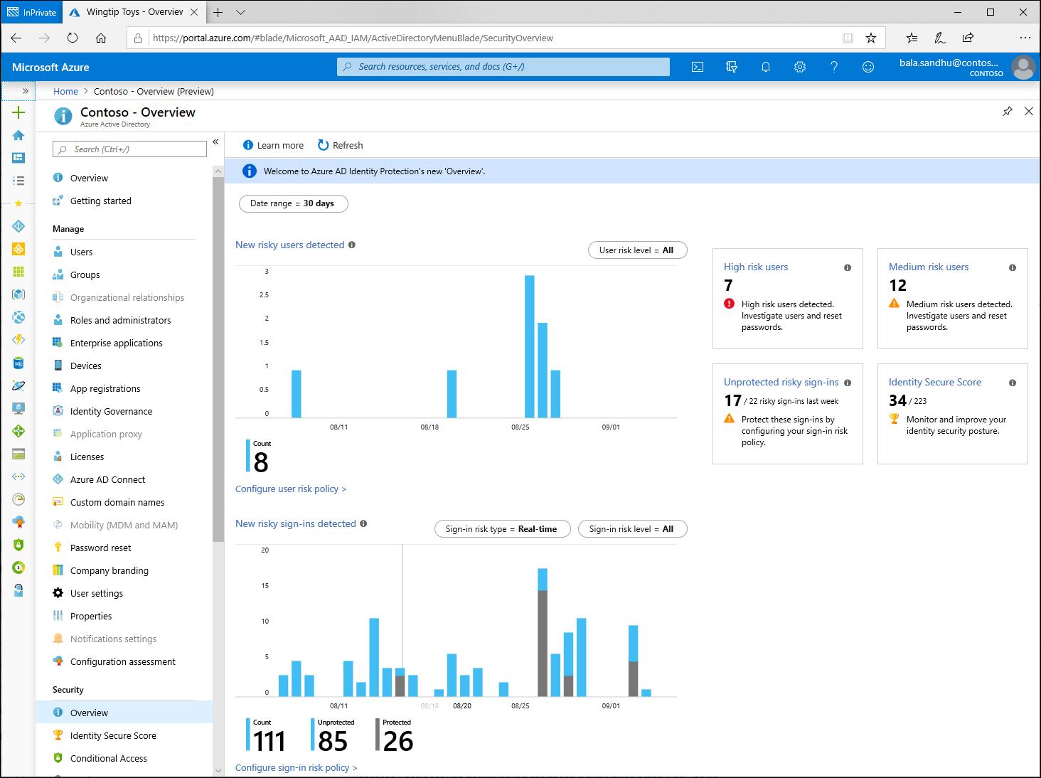 什麼是風險? Azure AD Identity Protection   Microsoft Docs