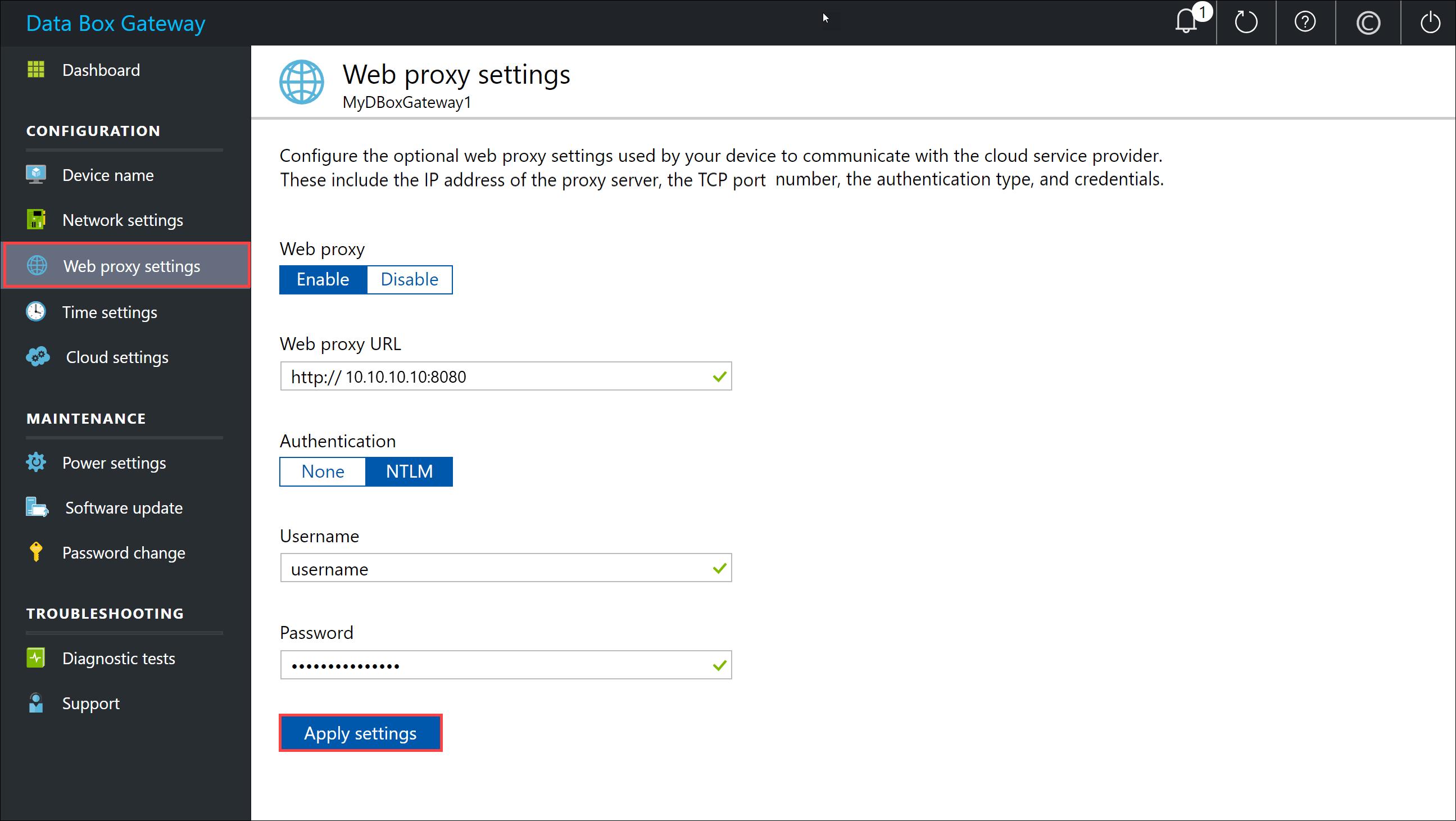 在 Azure 入口網站中連線,設定和啟動 Azure 資料箱閘道 | Microsoft Docs