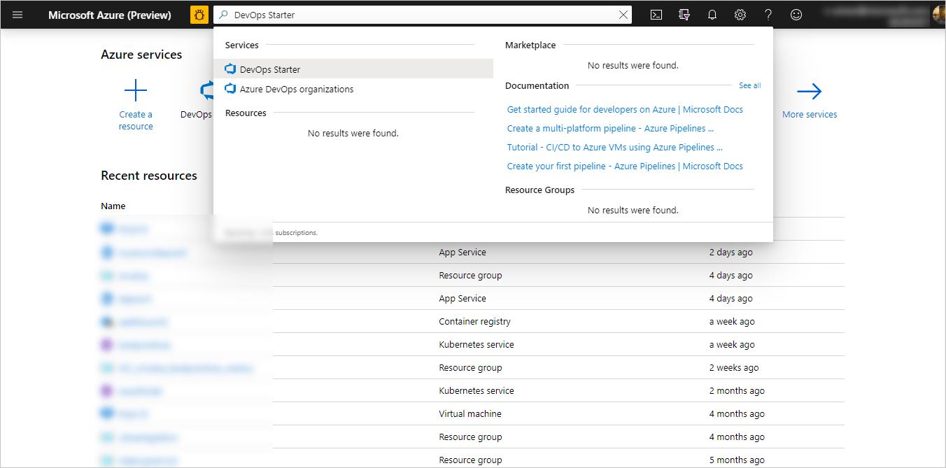 教學課程:使用 Azure DevOps Starter 為現有的程式碼建立 CI/CD 管線 | Microsoft Docs