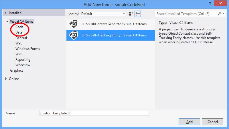 設計工具程式碼產生範本 - EF6   Microsoft Docs