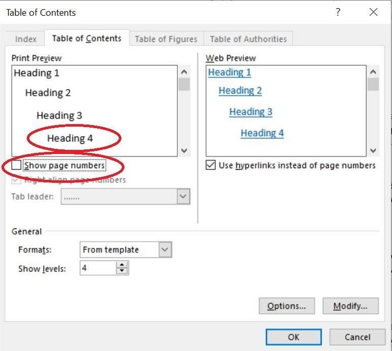 操作方法在不含頁碼的 Word 專案中建立目錄   Microsoft Docs