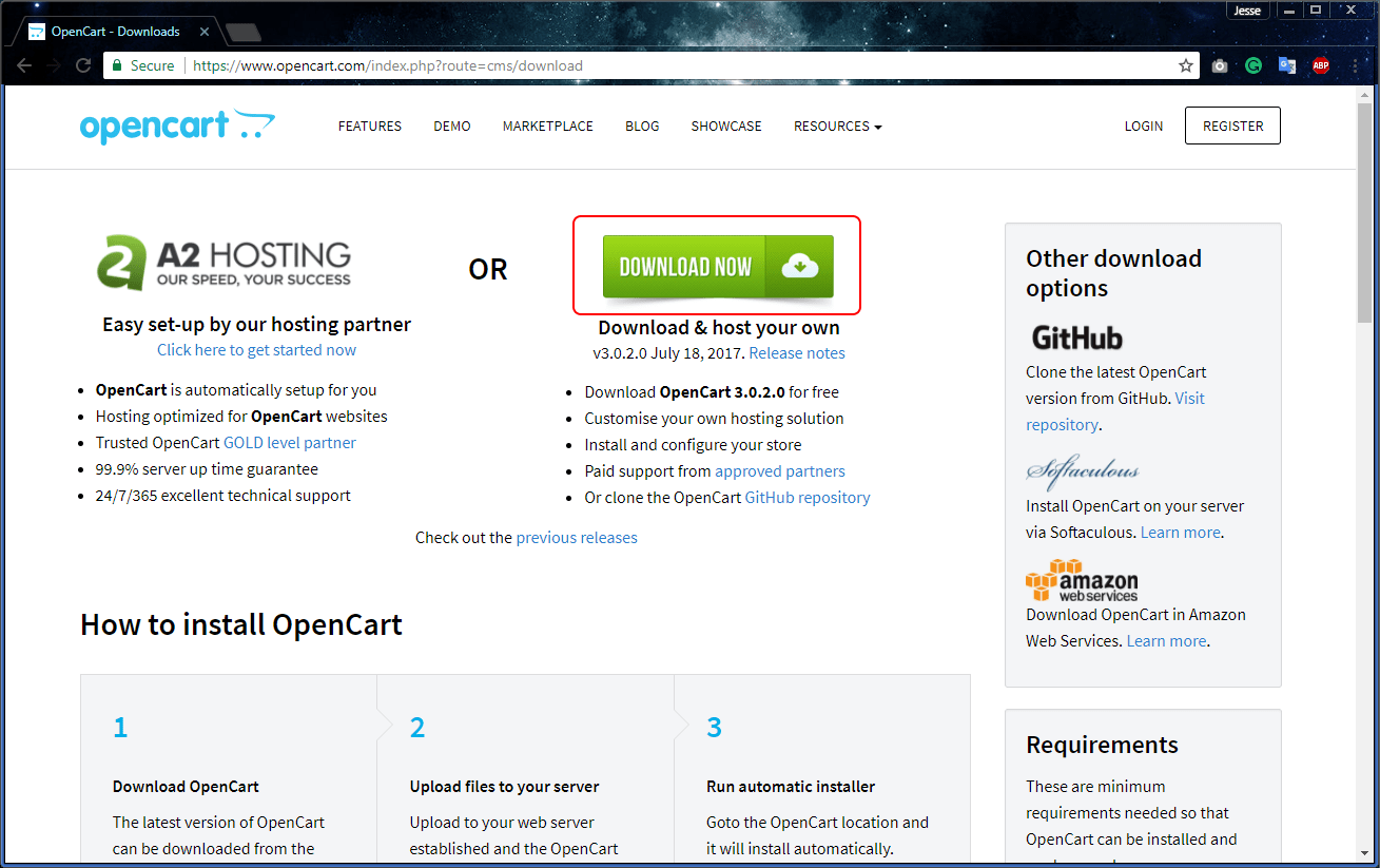 hight resolution of opencart official site download