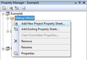 Add a new Property Sheet