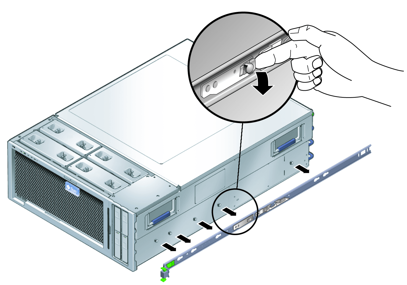 how to remove the server from the rack