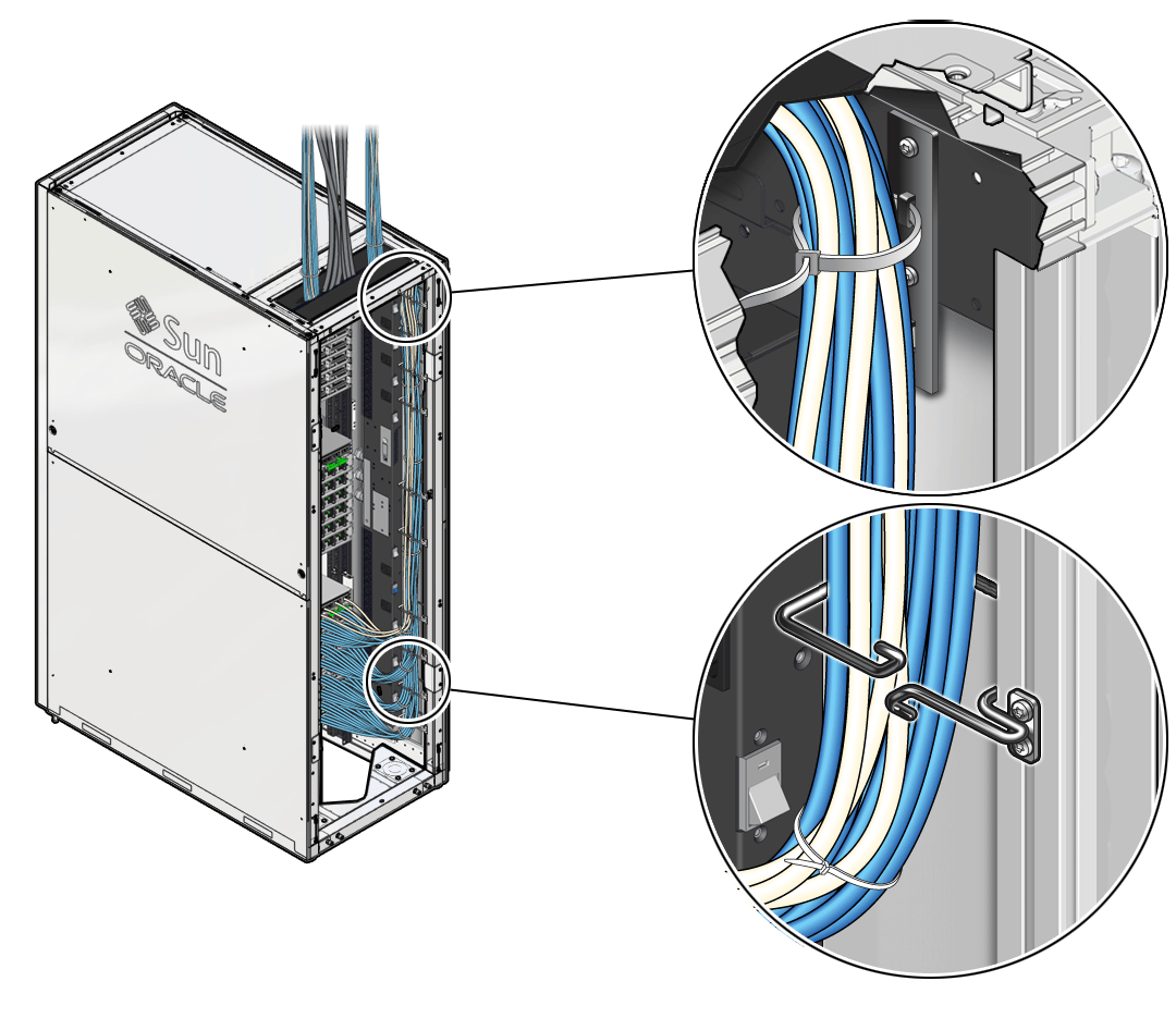 hight resolution of image figure showing how to route data cables through the cable management hooks in a