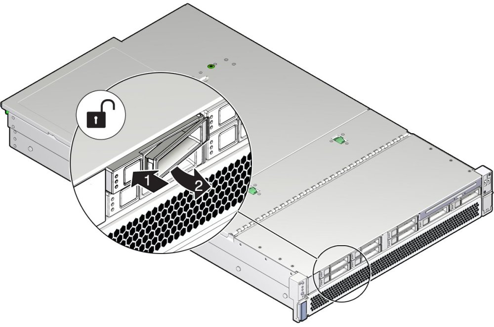 medium resolution of image figure showing the location of the storage drive release button and latch