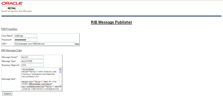 RIB API Simulators