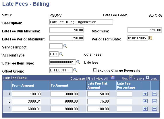 Setting Up Late Fees - Billing