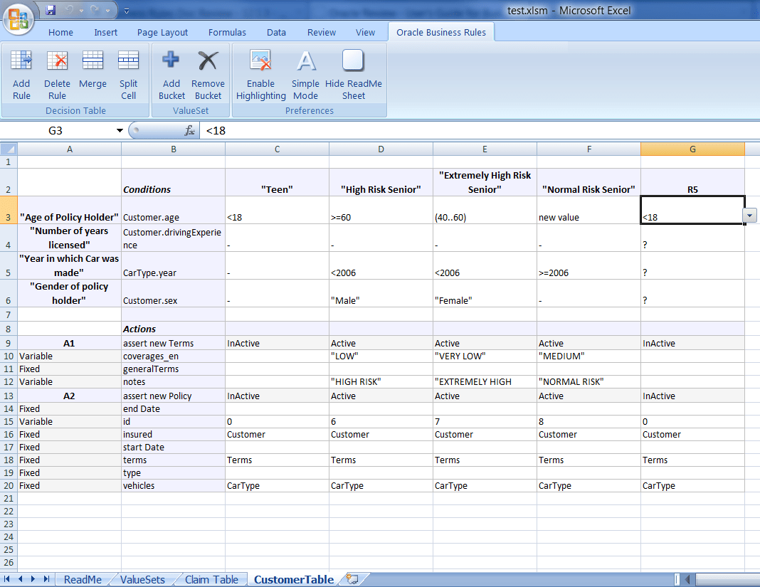Working With Decision Tables
