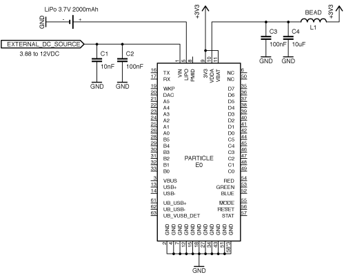 small resolution of note do not leave this pin unconnected for the module to boot up you need to tie this pin to systems 3v3 or other 3 3v supply