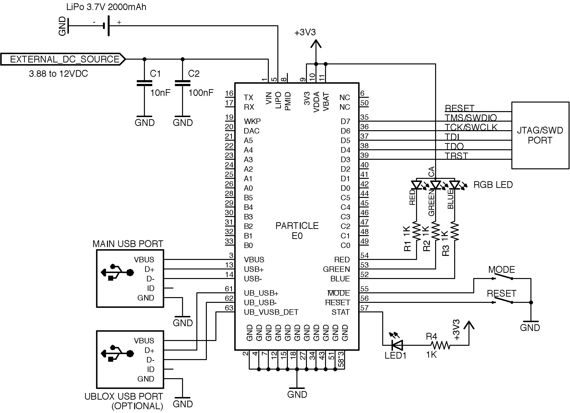 design schematics parallel port to gpio