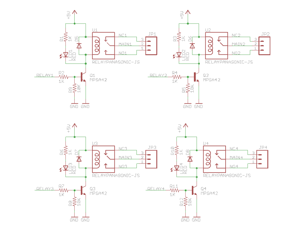 medium resolution of relay shield schematic control relay shield interface