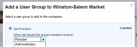 Adding a User Group