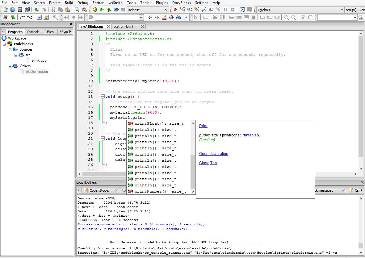 CodeBlocks — PlatformIO 4.1.0b5 documentation