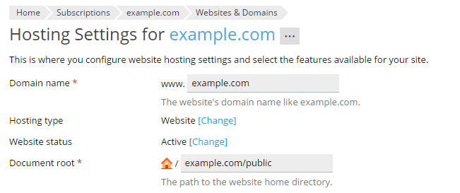Website Directory Structure