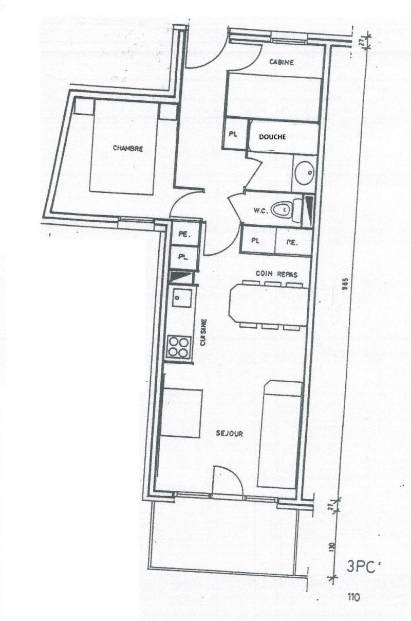 hight resolution of  rent in ski resort 3 room apartment 6 people 110 r sidence sextant