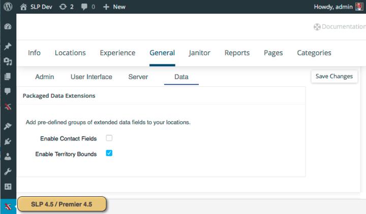 SLP 4.5 Premier 4.5 General Data Tab