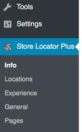 Store Locator Plus Admin Menu