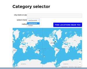 categroy selector front end power