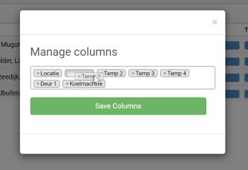 Manage columns reorder