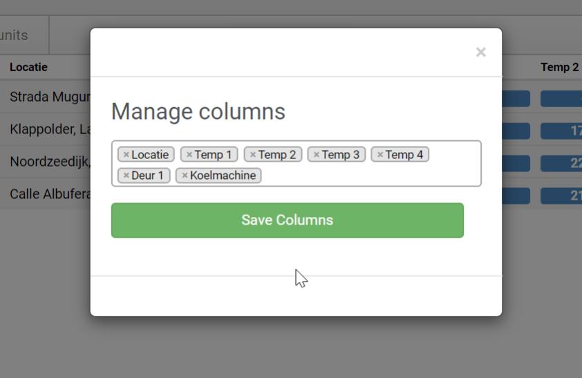 Manage columns