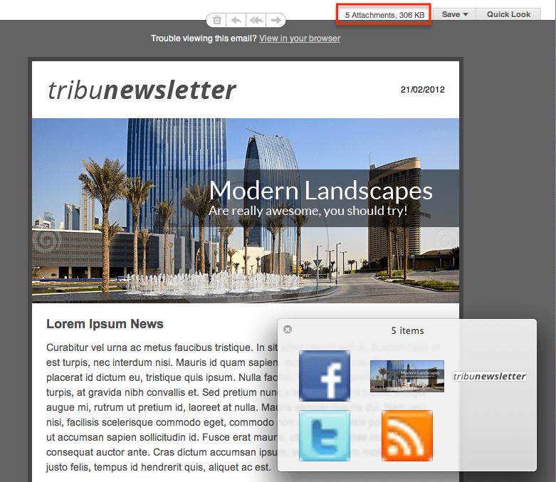 WordPress Newsletter plugin: Embedded Images extension