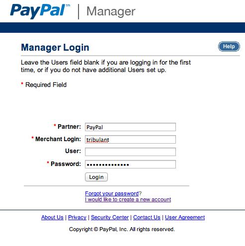 PayPal Manager Login