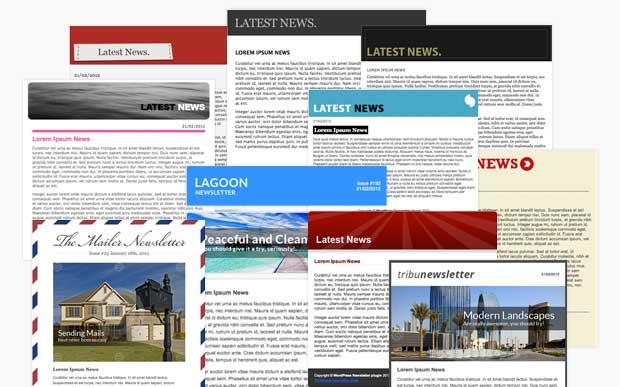 WordPress Newsletter plugin Email Templates