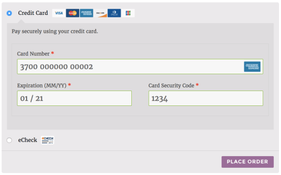 WooCommerce SkyVerge gateway payment form