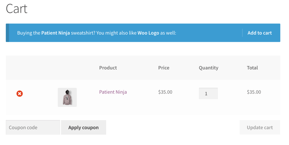 WooCommerce Cart Notices - Product in Cart Notice