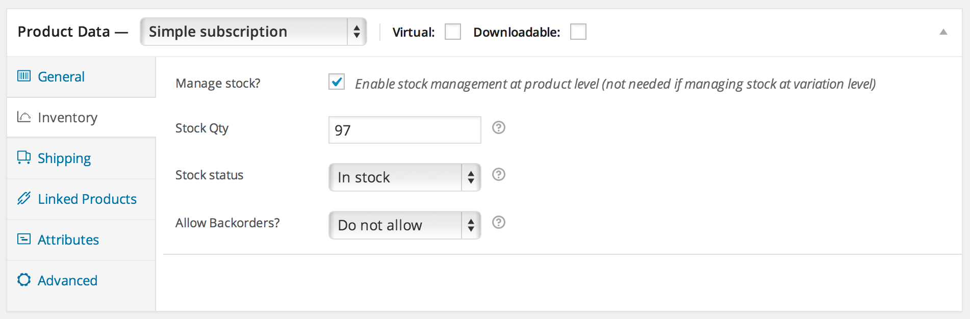 Subscription Inventory Management