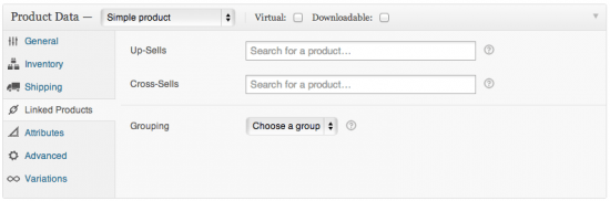 Linked Products tab